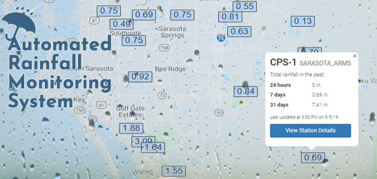 Sarasota ARMS Realtime Rainfall