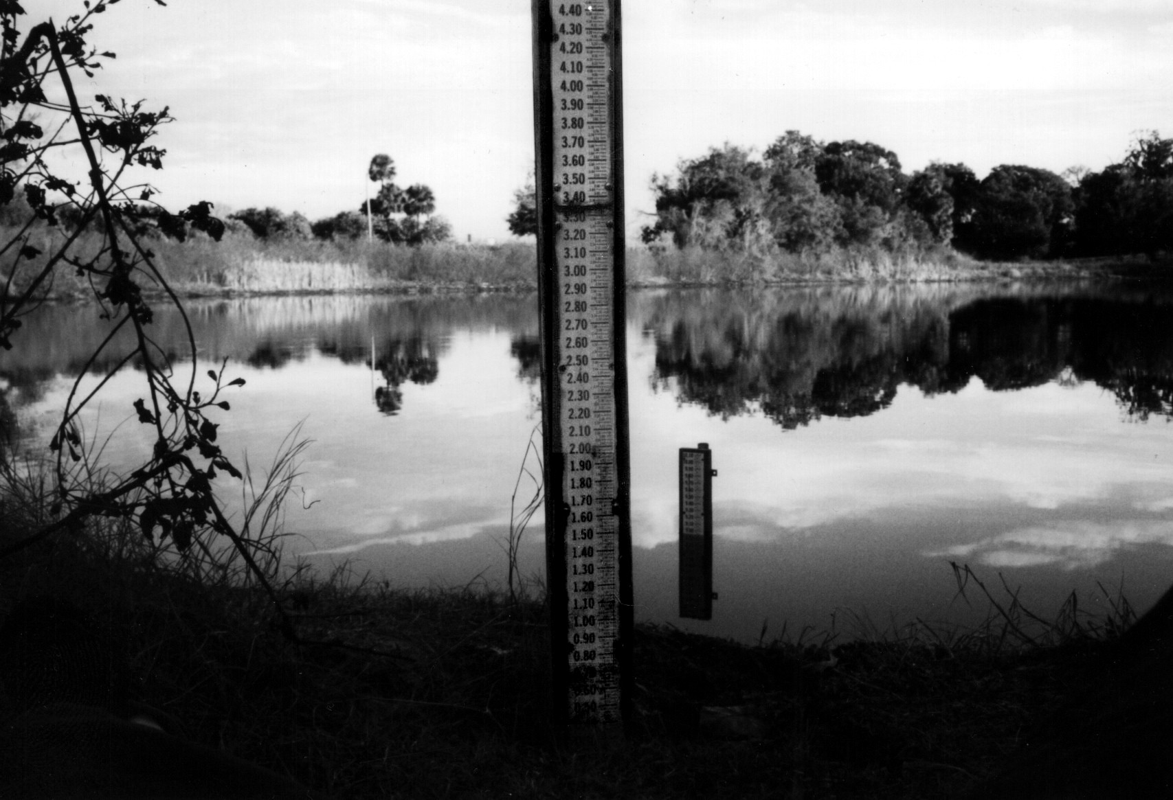 Staff gage at Lake Helen, Volusia County